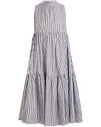 Beautiful Bottoms - Neck-tie Striped Cotton Dress - Lyst