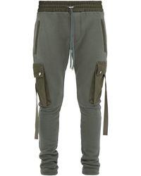 Amiri Canvas-trimmed Track Pants - Green
