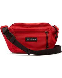 Balenciaga - Logo-appliqué Nylon Belt Bag - Lyst