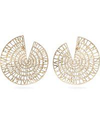 Valentino - Logo Embellished Circle Earrings - Lyst