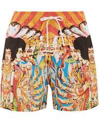 Amiri - Hendrix-print Technical-blend Swim Shorts - Lyst