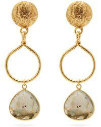 Sylvia Toledano Rose-cut Labradorite Drop Earrings - Metallic