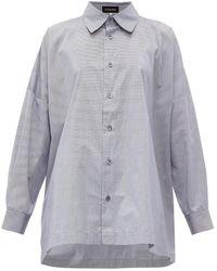 Eskandar オーバーサイズ コットンシャツ - マルチカラー