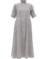 Thierry Colson Venetia Striped Cotton-sateen Maxi Dress - Multicolour
