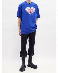 Vetements ドルフィン ハート オーバーサイズ コットンtシャツ - ブルー