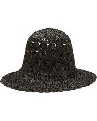 Reinhard Plank Macramé-knitted Bucket Hat - Black