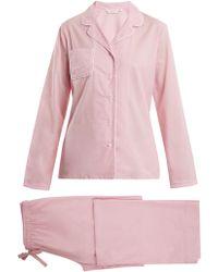 Derek Rose - Amalfi 1 Cotton Pyjama Set - Lyst