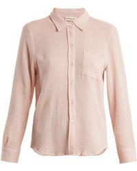 MASSCOB Patch-pocket Cotton Shirt - Pink
