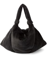 Lemaire Large Knotted-strap Alpaca-blend Tote Bag - Black