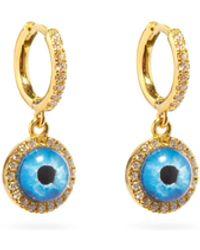 Ileana Makri Deep Blue Eye Xs Diamond & 18kt Gold Earrings - Metallic