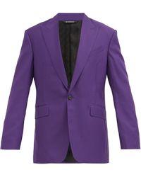 Givenchy ウールツイル シングルスーツジャケット - パープル
