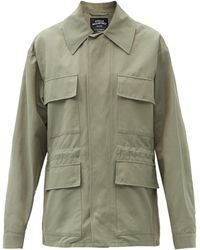 Stella McCartney サム オーバーサイズ ツイルジャケット - グリーン