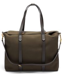 Mismo Mega Tote Two-in-one Canvas & Leather Holdall - Brown