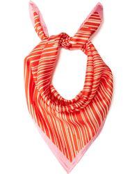 Diane von Furstenberg   Stripe-print Silk Scarf   Lyst