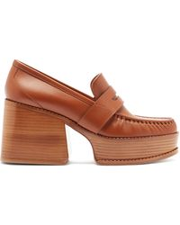 Gabriela Hearst Augusta Leather Penny Loafers - Brown