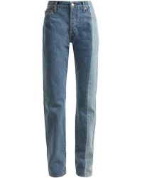 Vetements X Levi's Reworked Straight Leg Jeans - Blue