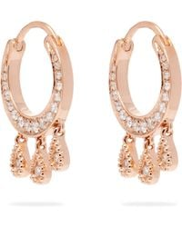 Jacquie Aiche - Diamond & Rose Gold Earrings - Lyst