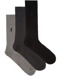 London Sock Company - Simply Sartorial Traditional Pack Of Three Socks - Lyst