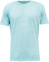 120% Lino 120% Lino リネンtシャツ - ブルー