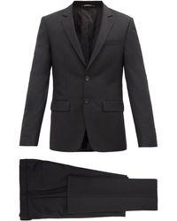 Givenchy スリムフィット ウールモヘア シングルスーツ - ブラック