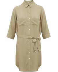 Heidi Klein Venice Belted Shirt Dress - Natural
