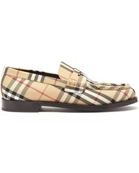 Burberry House-check Leather Loafers - Multicolour