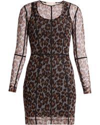 Christopher Kane - Leopard-print Mesh Dress - Lyst