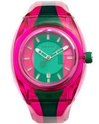 Gucci - Sync Striped Rubber Watch - Lyst