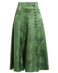 Rosie Assoulin - Loop Button Gathered Skirt - Lyst