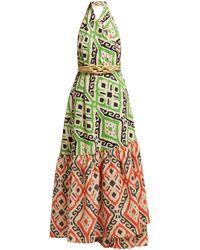 LOVE Binetti I Go Around Cotton Maxi Dress - Green
