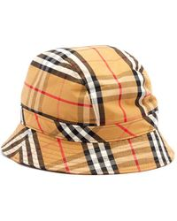 Burberry - Vintage Check Cotton Bucket Hat - Lyst 4d6ee89bc63