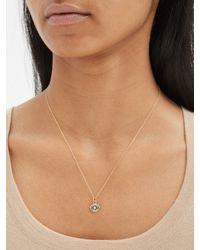 Alison Lou Evil Eye Diamond & 14kt Gold Necklace - Metallic