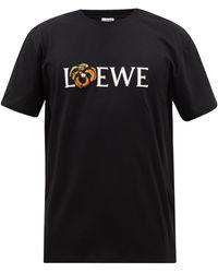 Loewe パンジー コットンtシャツ - ブラック