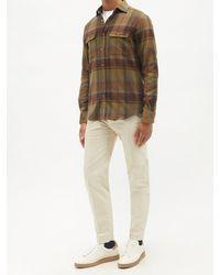 Ralph Lauren Purple Label チェック コットンフランネルシャツ - マルチカラー