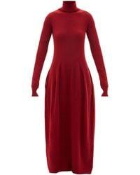 Petar Petrov Aza Roll-neck Cashmere-blend Dress - Red