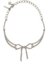 Oscar de la Renta - Bow Crystal-embellished Necklace - Lyst