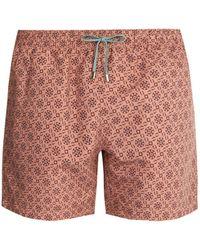Stella McCartney - Mosaic Print Swim Shorts - Lyst