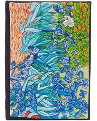 Olympia Le-Tan Irises ブッククラッチバッグ - ブラック