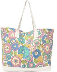 Dodo Bar Or Litta Floral-print Canvas Tote Bag - Blue