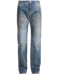 MM6 by Maison Martin Margiela | Marked Straight-leg Jeans | Lyst