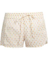 Mes Demoiselles   Dylan Fil Coupé Cotton-blend Shorts   Lyst