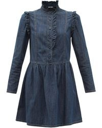 See By Chloé - See By Chloé ラッフル デニムミニドレス - Lyst