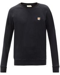 Maison Kitsuné Embroidered Logo Jumper - Black