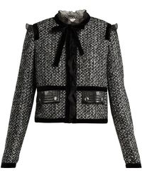 Giambattista Valli - Ruffle-trimmed Tweed Jacket - Lyst