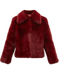 Sies Marjan Felice Faux-fur Jacket - Red