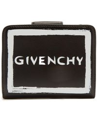 Givenchy - Graffiti Logo Leather Wallet - Lyst