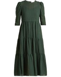 See By Chloé - Tiered Cotton Voile Midi Dress - Lyst