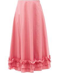 Molly Goddard モーガン フリルコットンスカート - ピンク