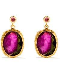 Jade Jagger Maiden Tourmaline & 18kt Gold Earrings - Multicolour