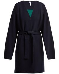 Loewe - Colour Block Wool And Cashmere Blend Cardigan - Lyst